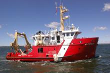 The Coast Guard ship the M. Perley at sea